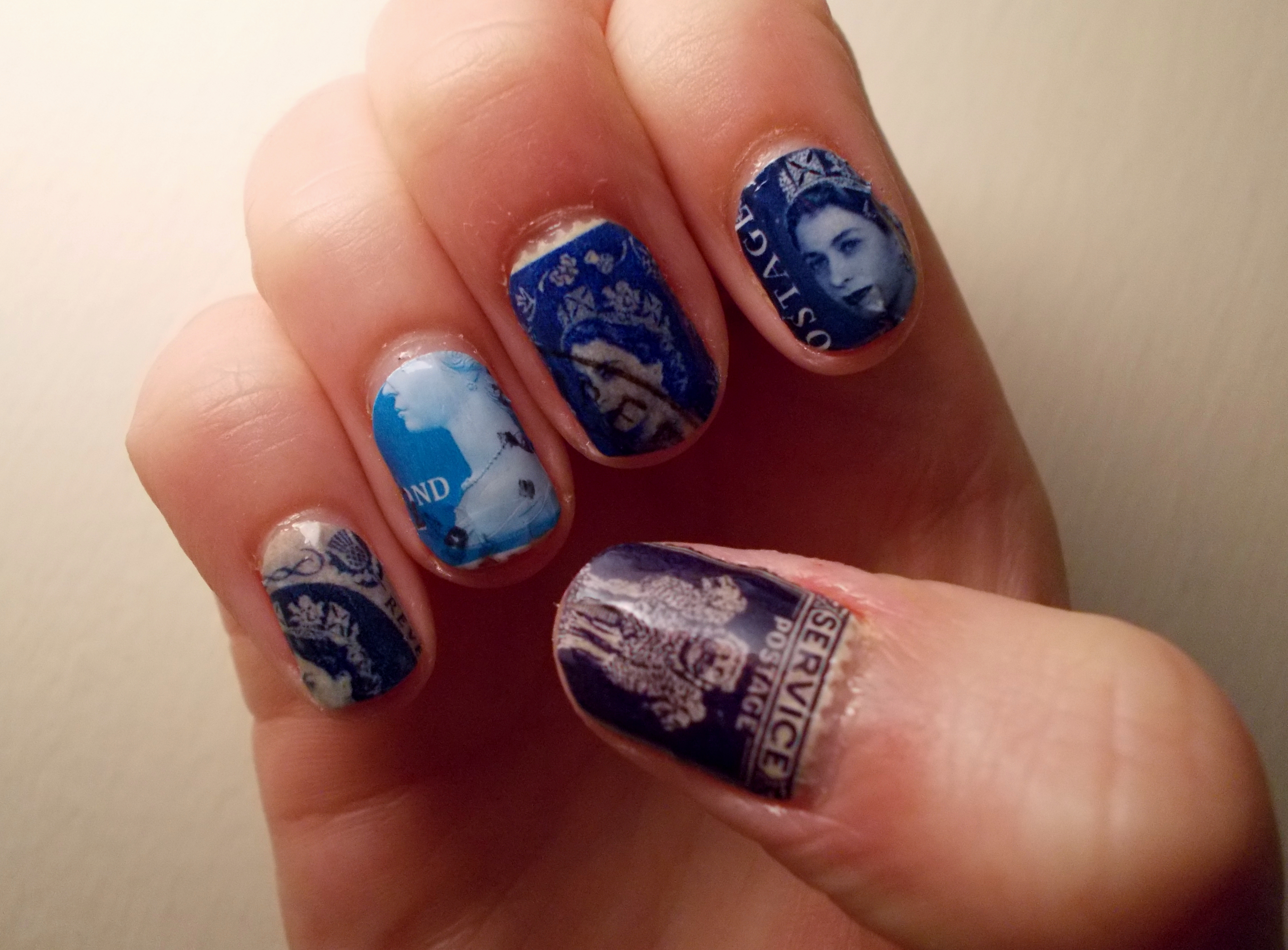 Postage stamp nail art wonderfulwolf author prinsesfo Image collections