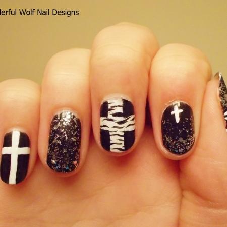 Cross nail art wonderfulwolf zebra crossing prinsesfo Gallery
