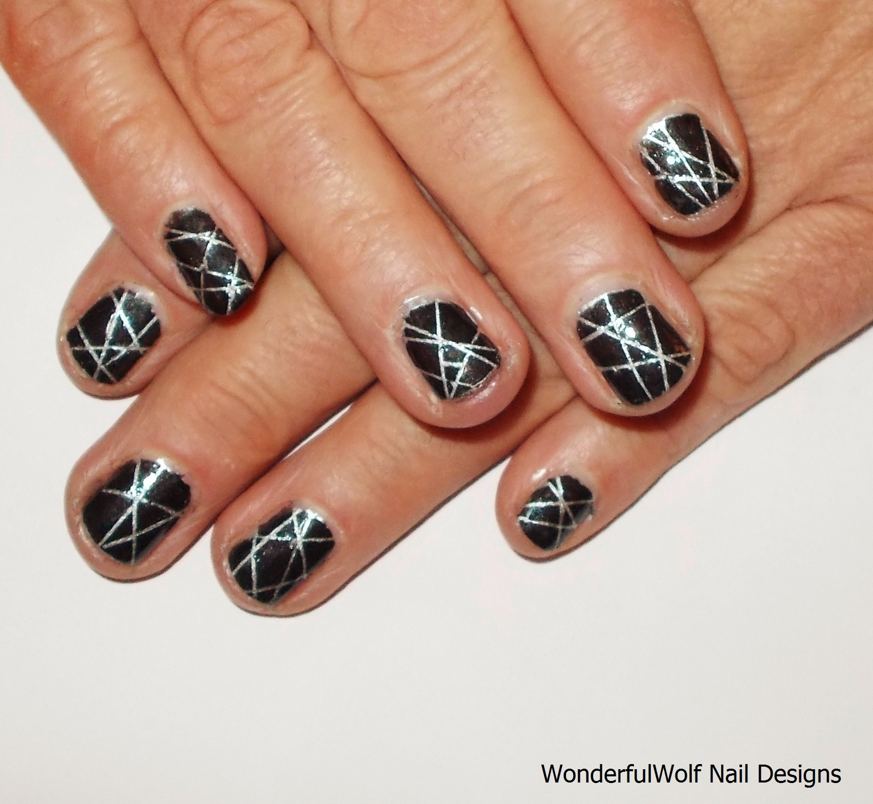 Nail Art With Tape: Nail Tape Designs