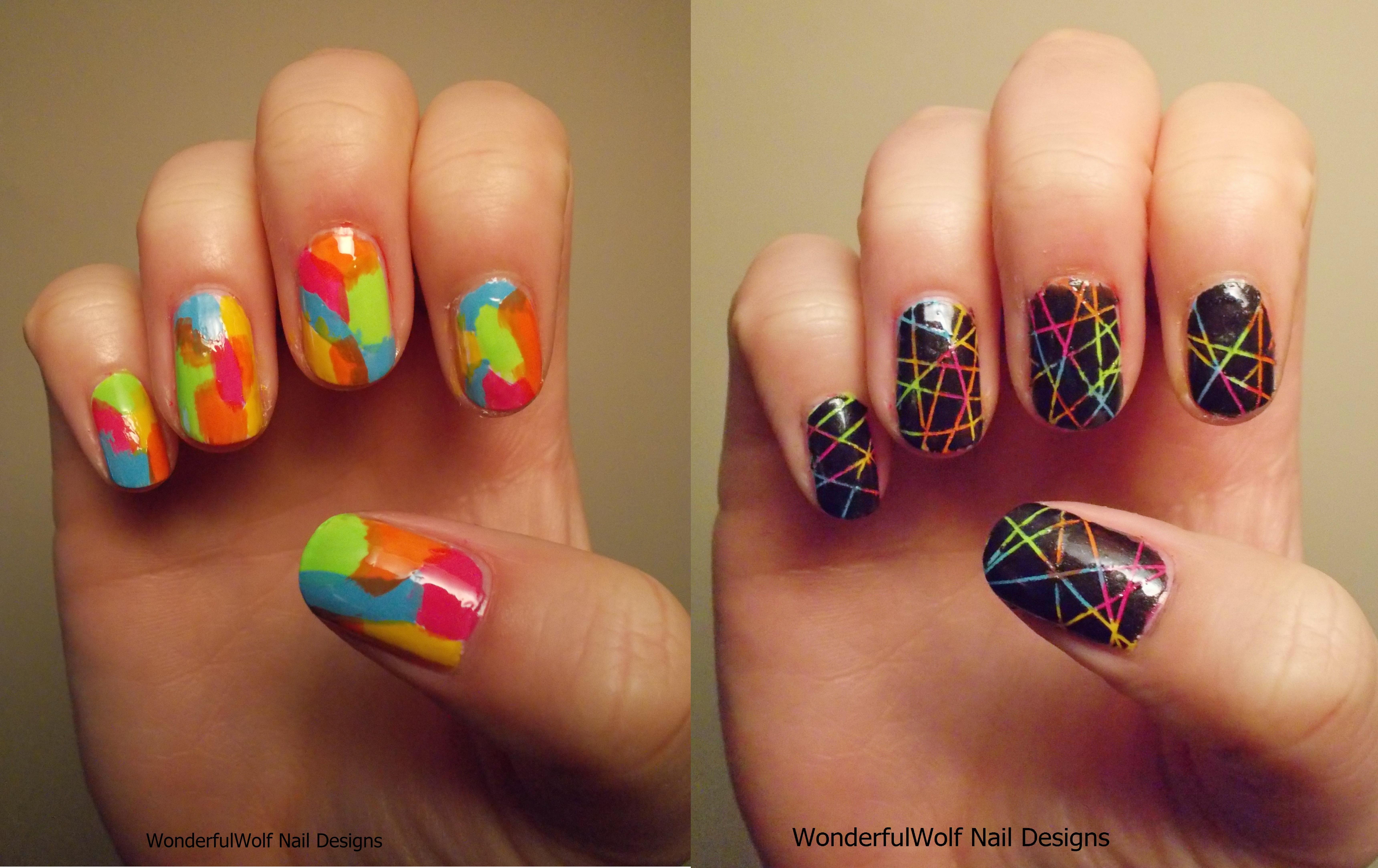 Multi Coloured Nail Art Wonderfulwolf