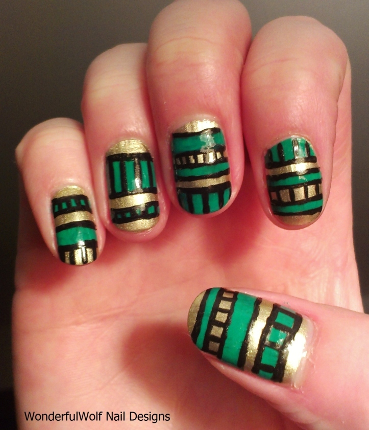 Green and Gold Aztec