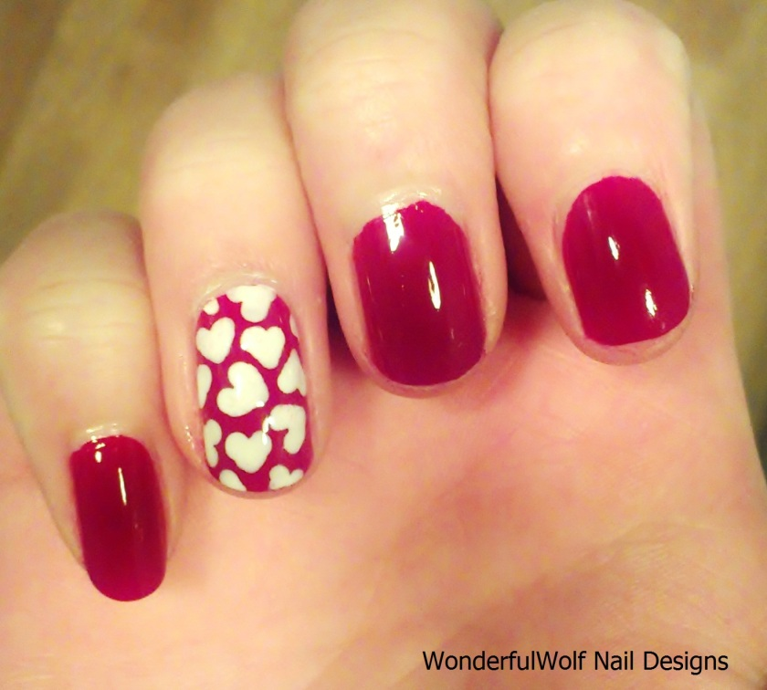 Valentines Accent Nail
