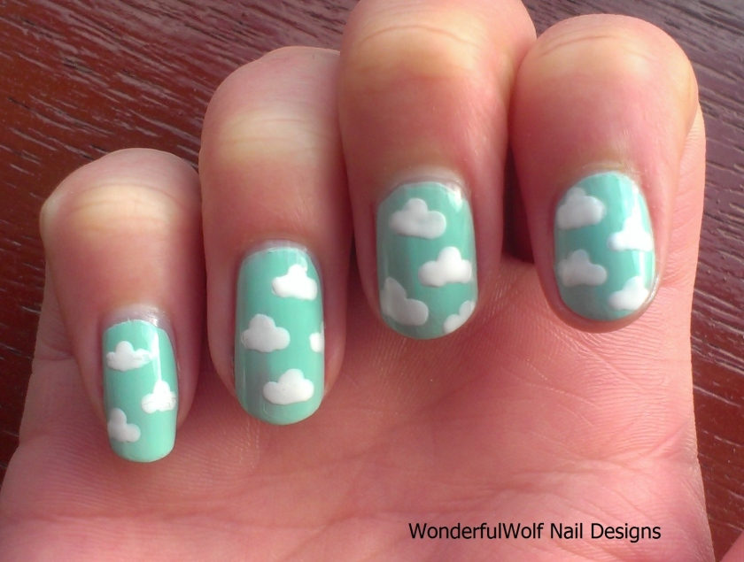 Cloud Nail Art