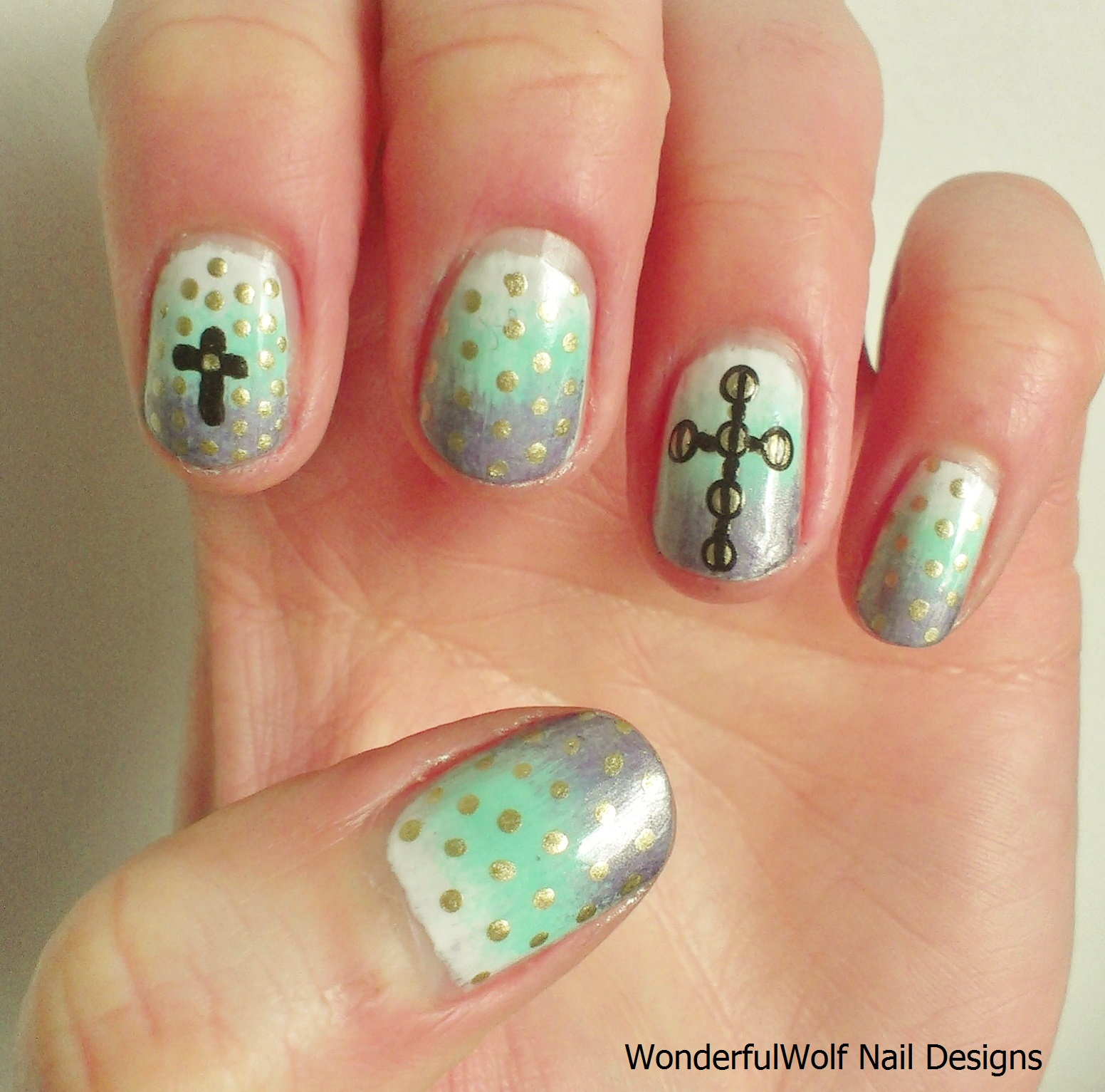 Cross Nails - Cross Nail Art – WonderfulWolf