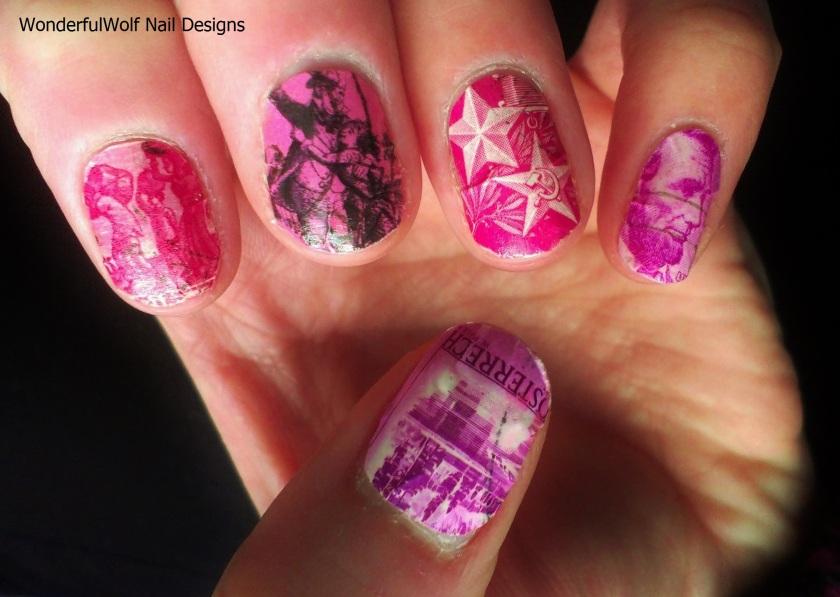 Postage Stamp Nail art