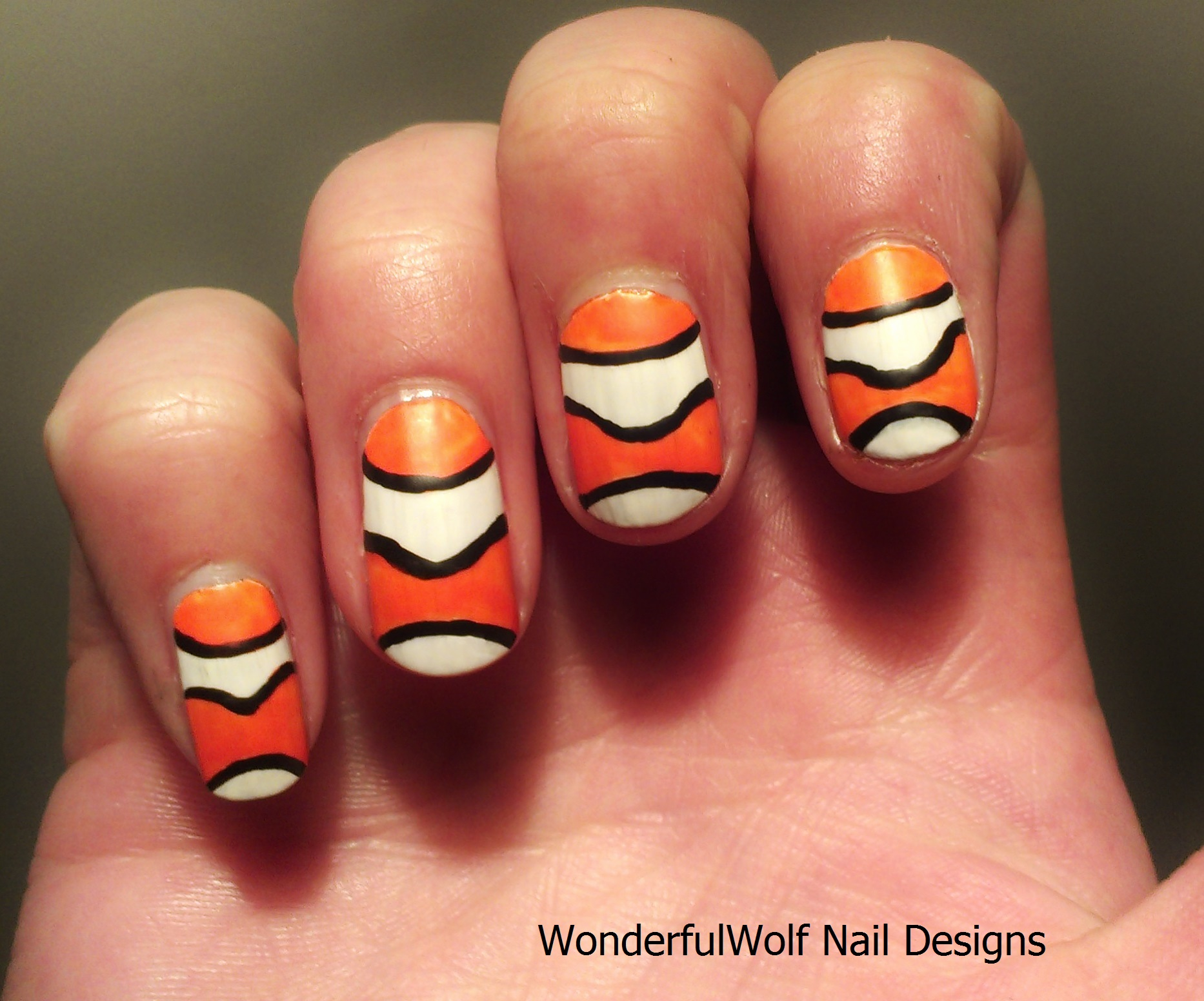 Marine Themed Nail Art Wonderfulwolf