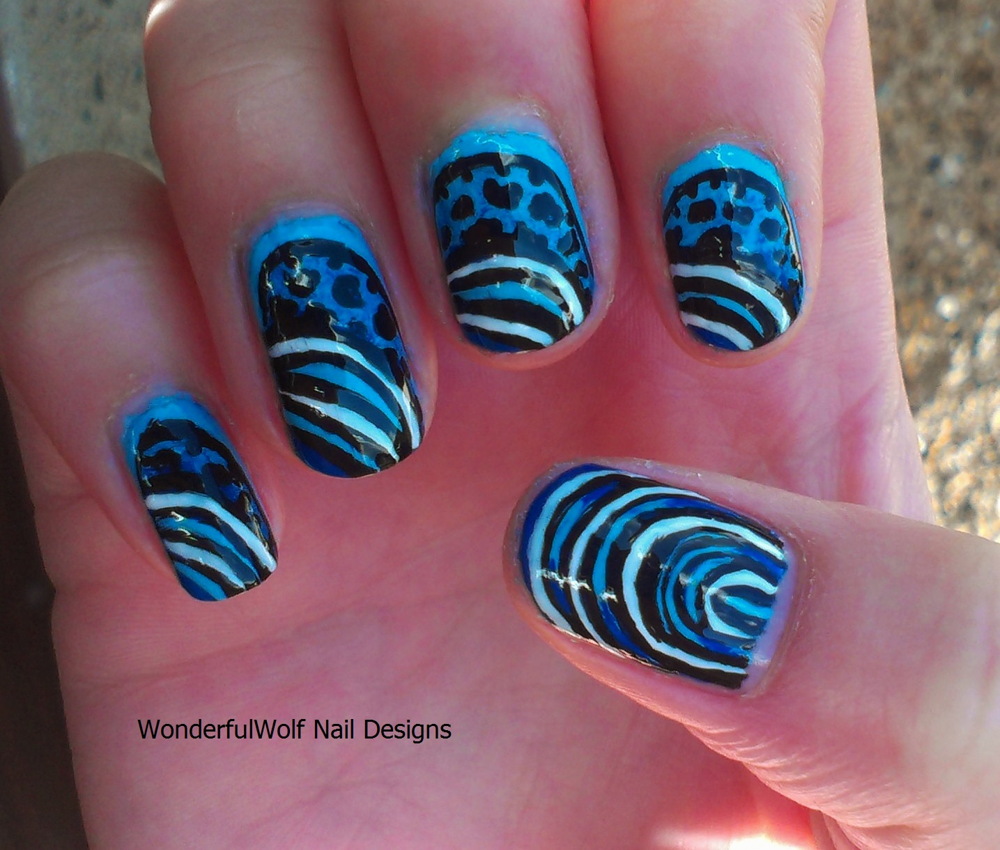 Marine themed nail art wonderfulwolf juvenile emperor angelfish prinsesfo Gallery