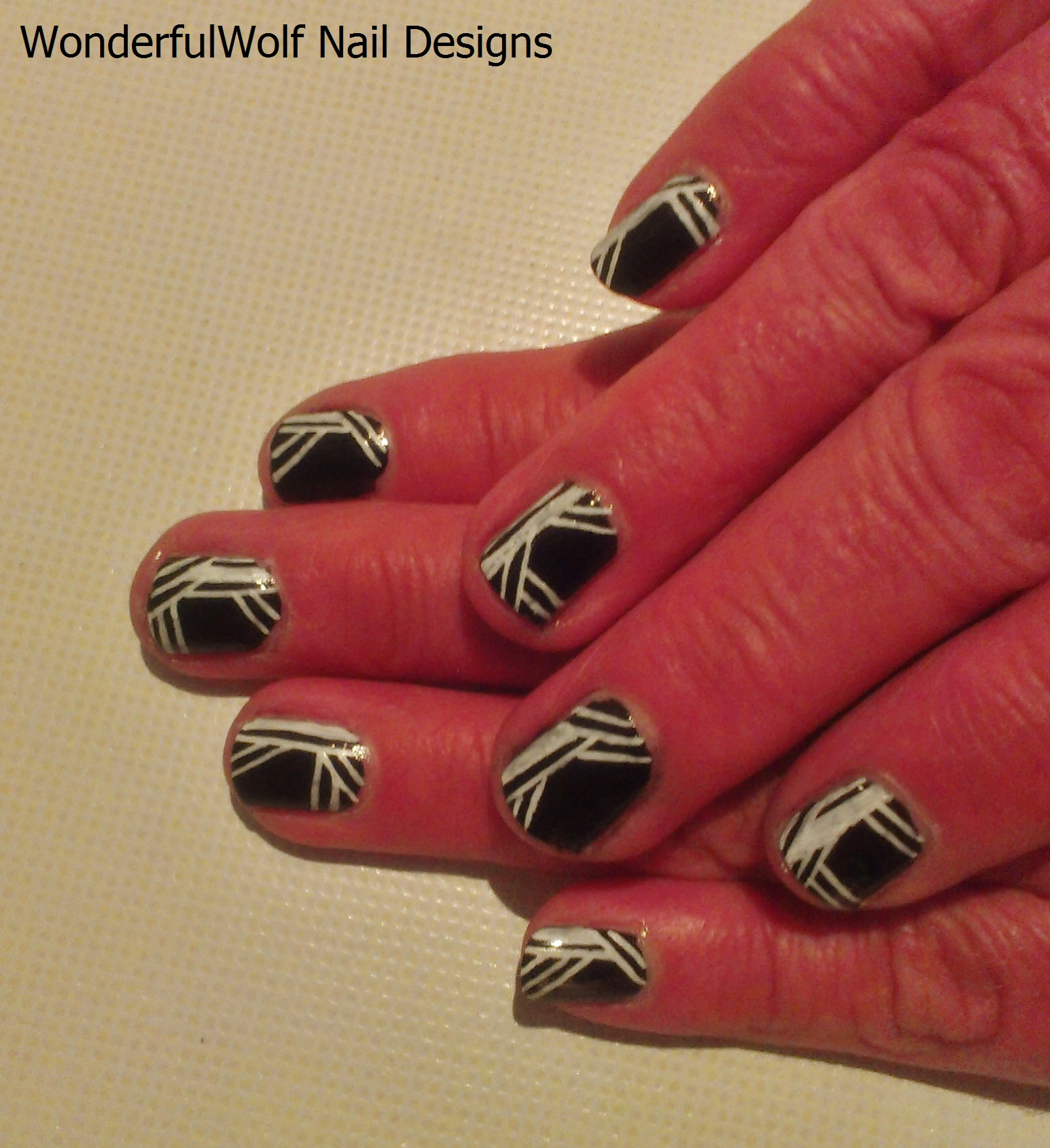 black and white nail art – wonderfulwolf