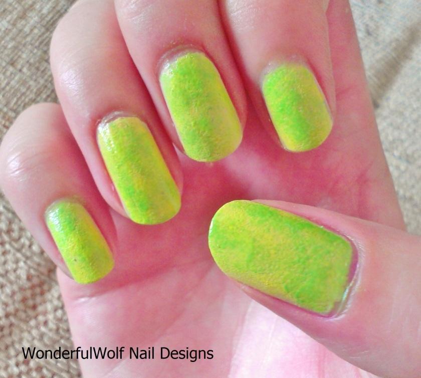 Neon Sponged Nails