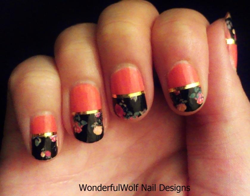 Oriental Rose Nail Art