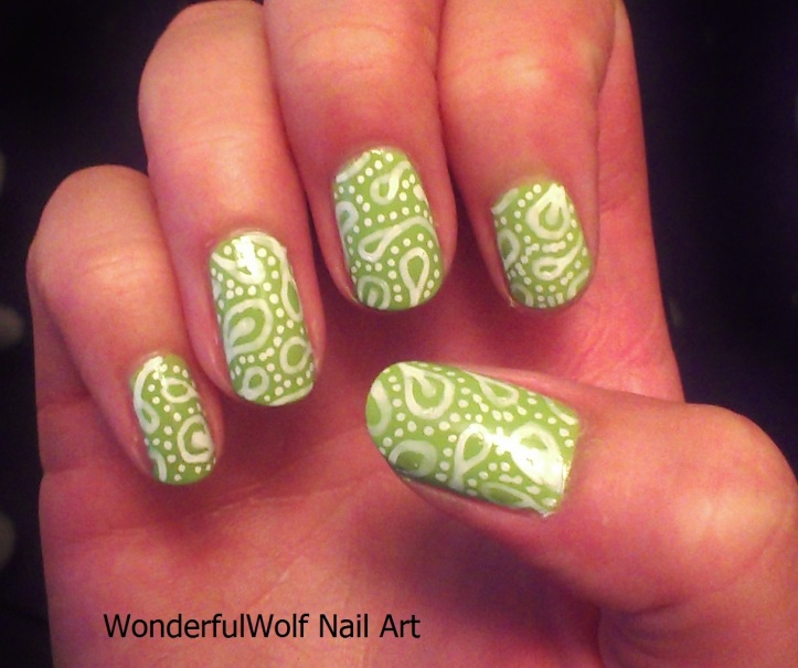 Paisely Print Nail Art