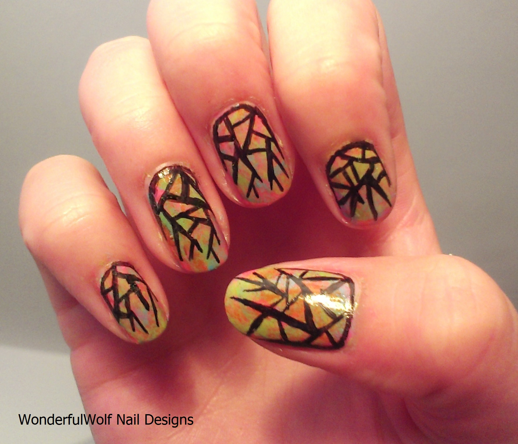 Stained Glass Nail Art: Stained Glass Nail Art
