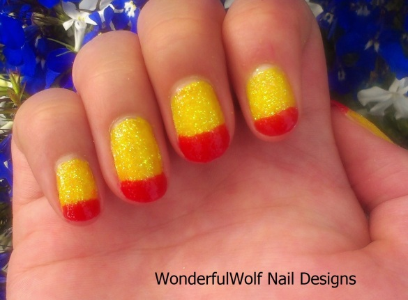 Tequila Sunrise Nail Art