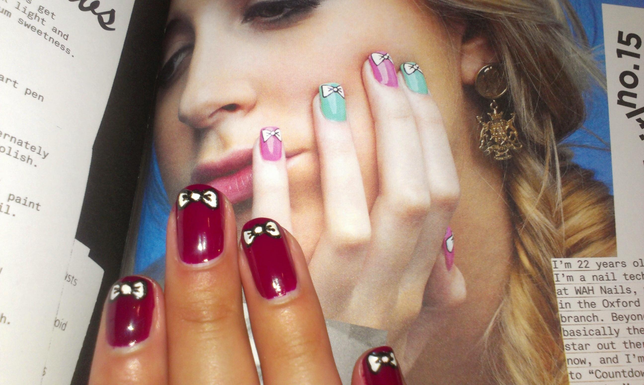 Wah nails book of nail art wonderfulwolf wah nails bow 2 prinsesfo Images