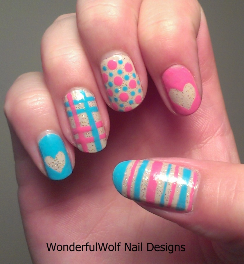 Summer Randomness Nail Art