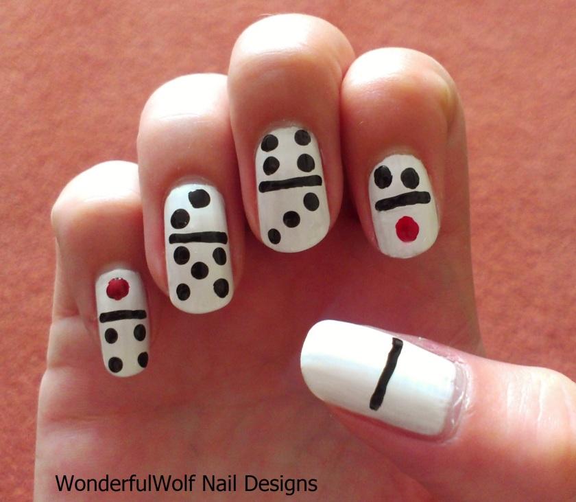 Dominoes Nail Art