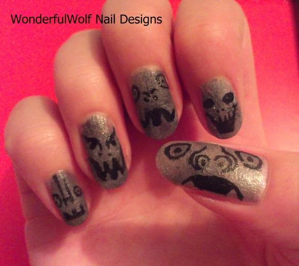 Gargoyle Nail Art