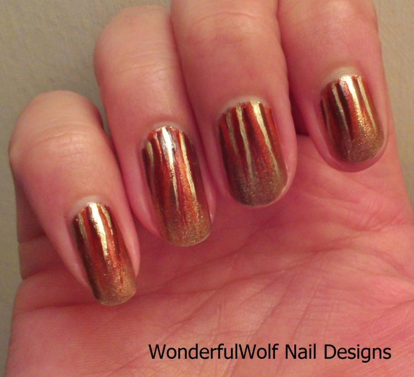 Autumn Streaks Nail Art