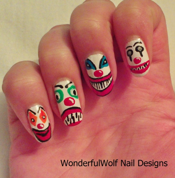 Clown Nail Art