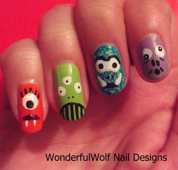 Monster and Alien Nail Art