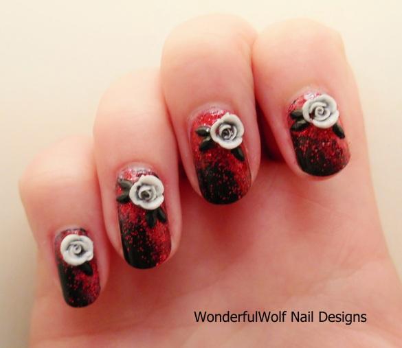 Vampire Bride Nail Art