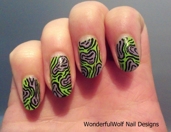 Zombie Flesh Nail Art