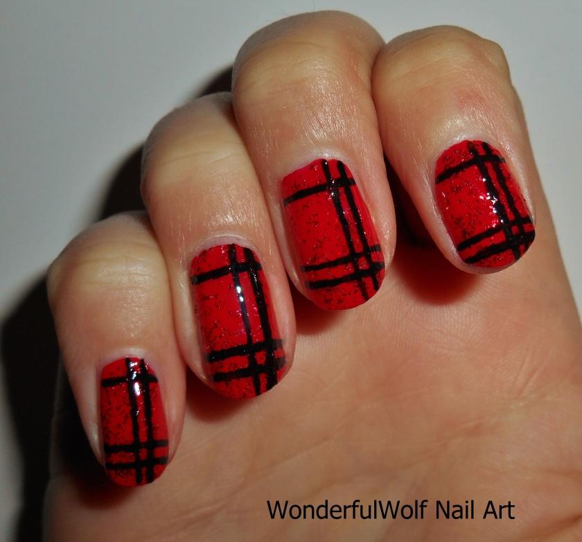 Tartan Nail Art