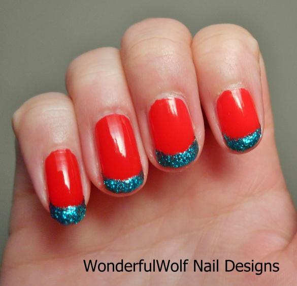 Christmas Glitter Tips