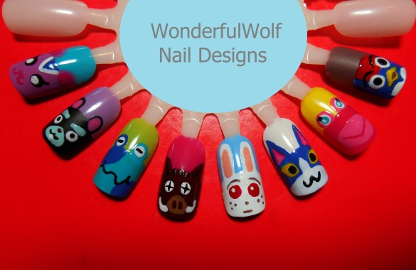 Animal Crossing Nail Art