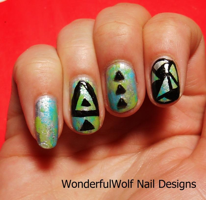 Triangle Nail Art