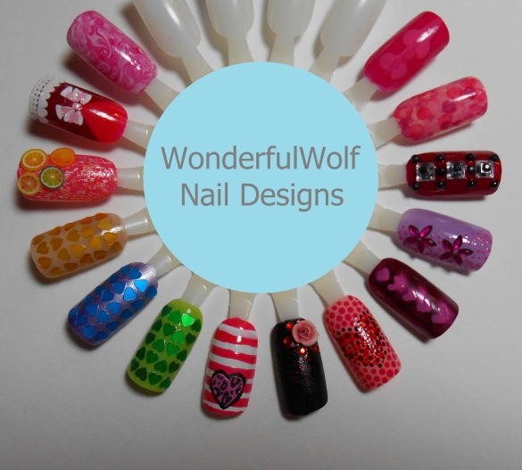 Valentines Nail Art Wheel 2014