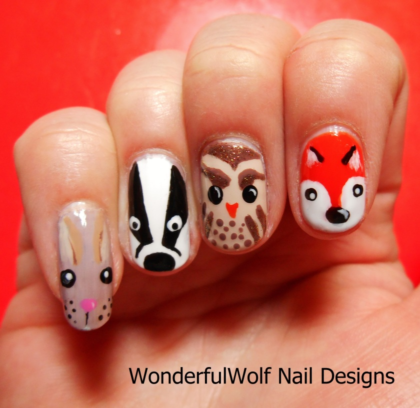 Woodland Creature Nail Art