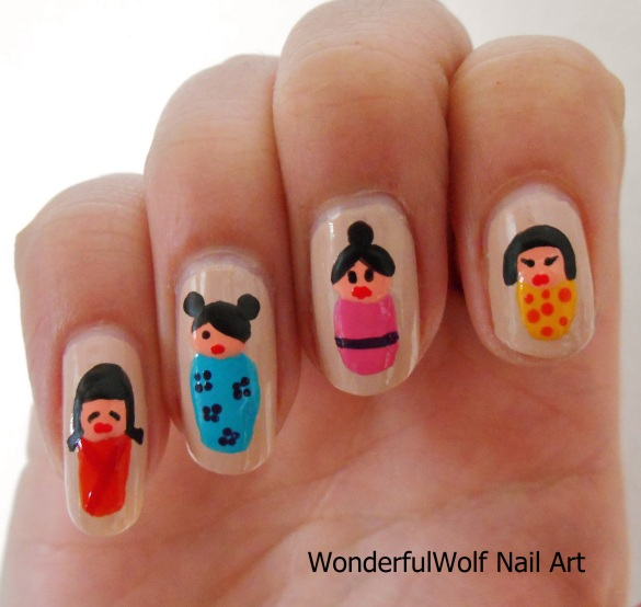 Momiji Doll Nail Art