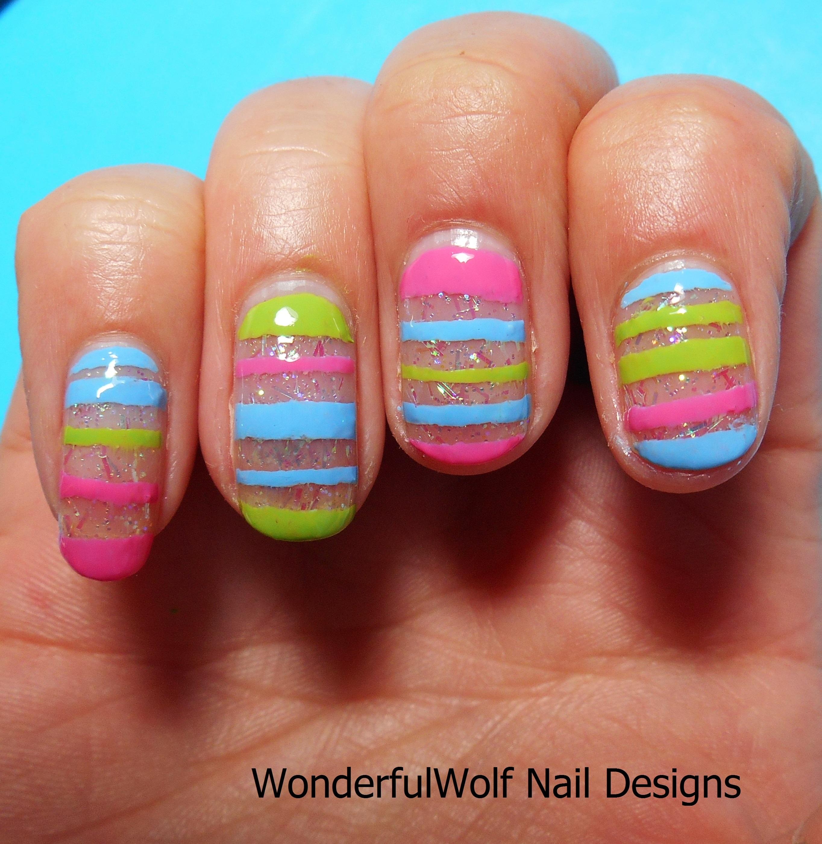 Easter Egg Nail Art Wonderfulwolf