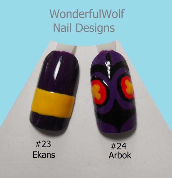 Ekans Arbok Nail Art