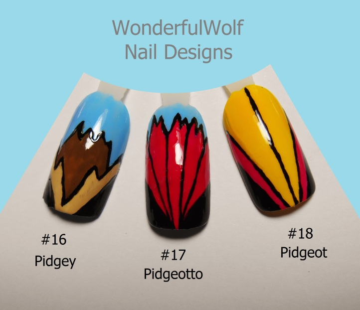 Pidgey Evolution Nail Art