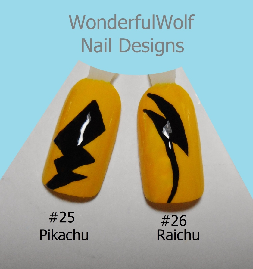 Pikachu Raichu Nail Art
