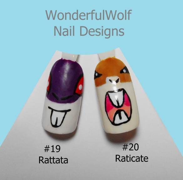 Rattata Evolution Nail Art