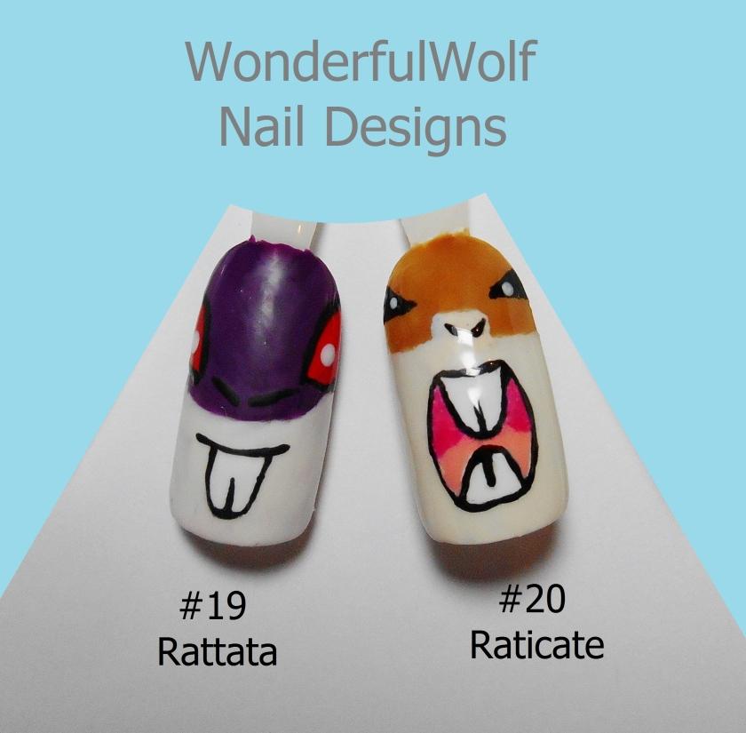 Rattata Evolution Nail Art