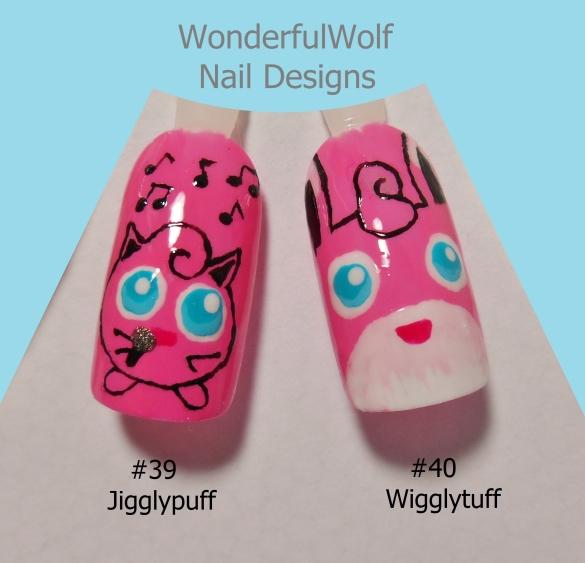 Jigglypuff and Wigglytuff Nail Art