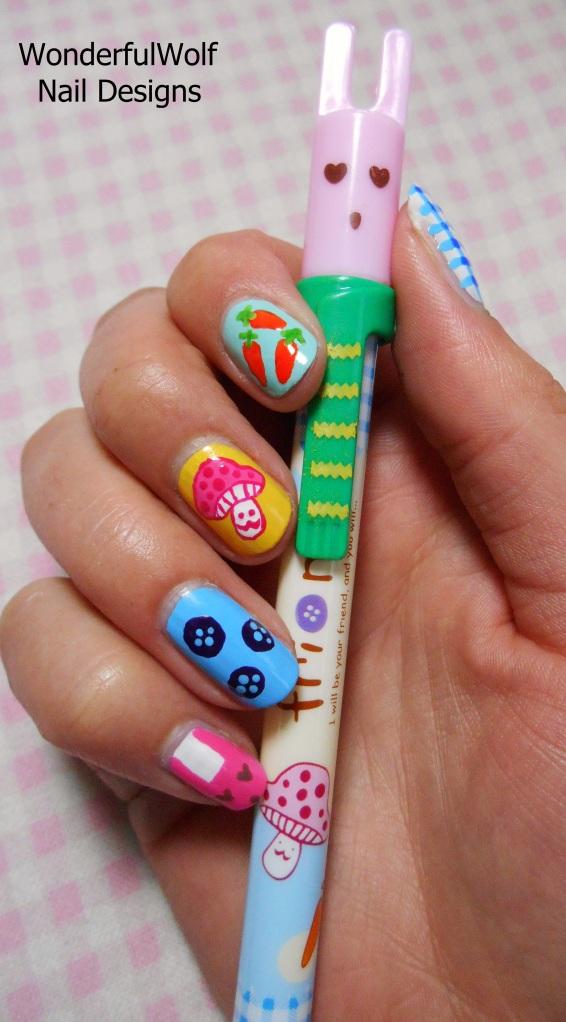 Random Nail Art Inspired by Japanese Pen