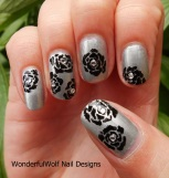My first ever hand painted rose nail art, they didn't really turn out like roses but I enjoyed painting them,