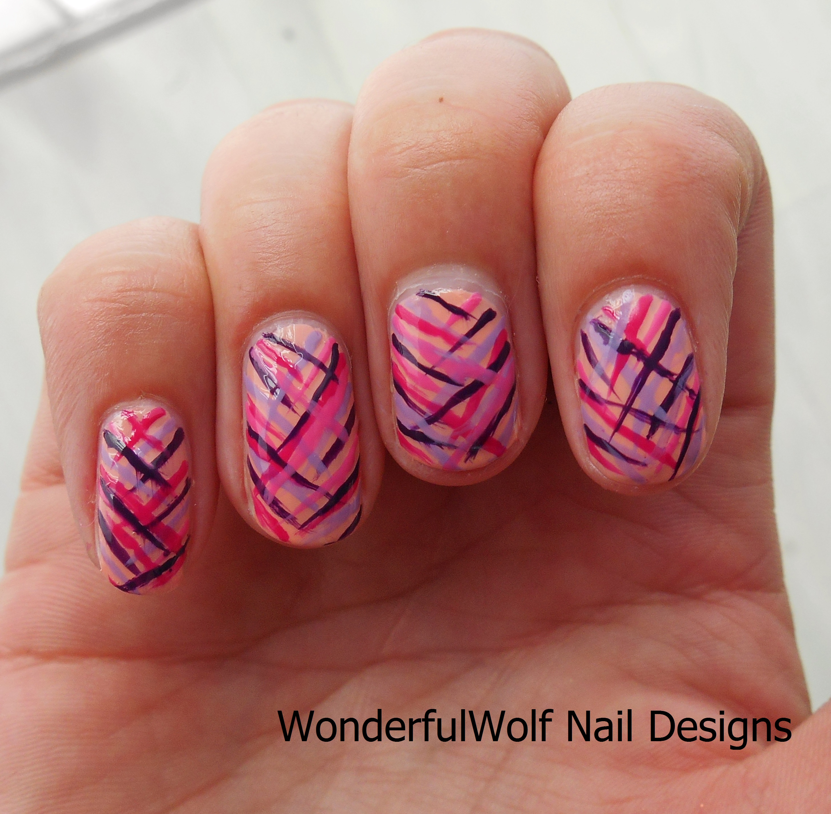 Pink And Purple Nail Art