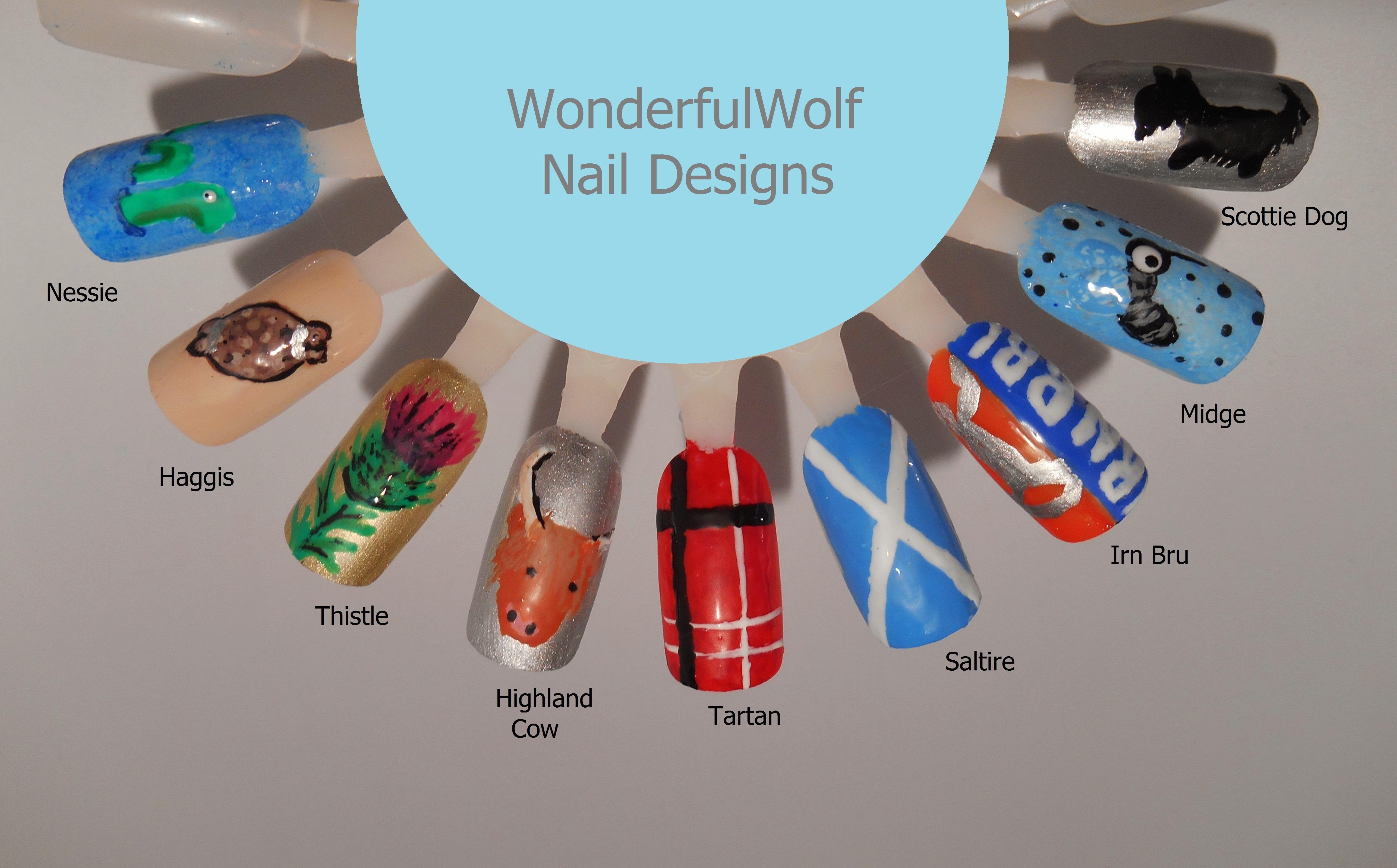 Thistle Nail Art Wonderfulwolf