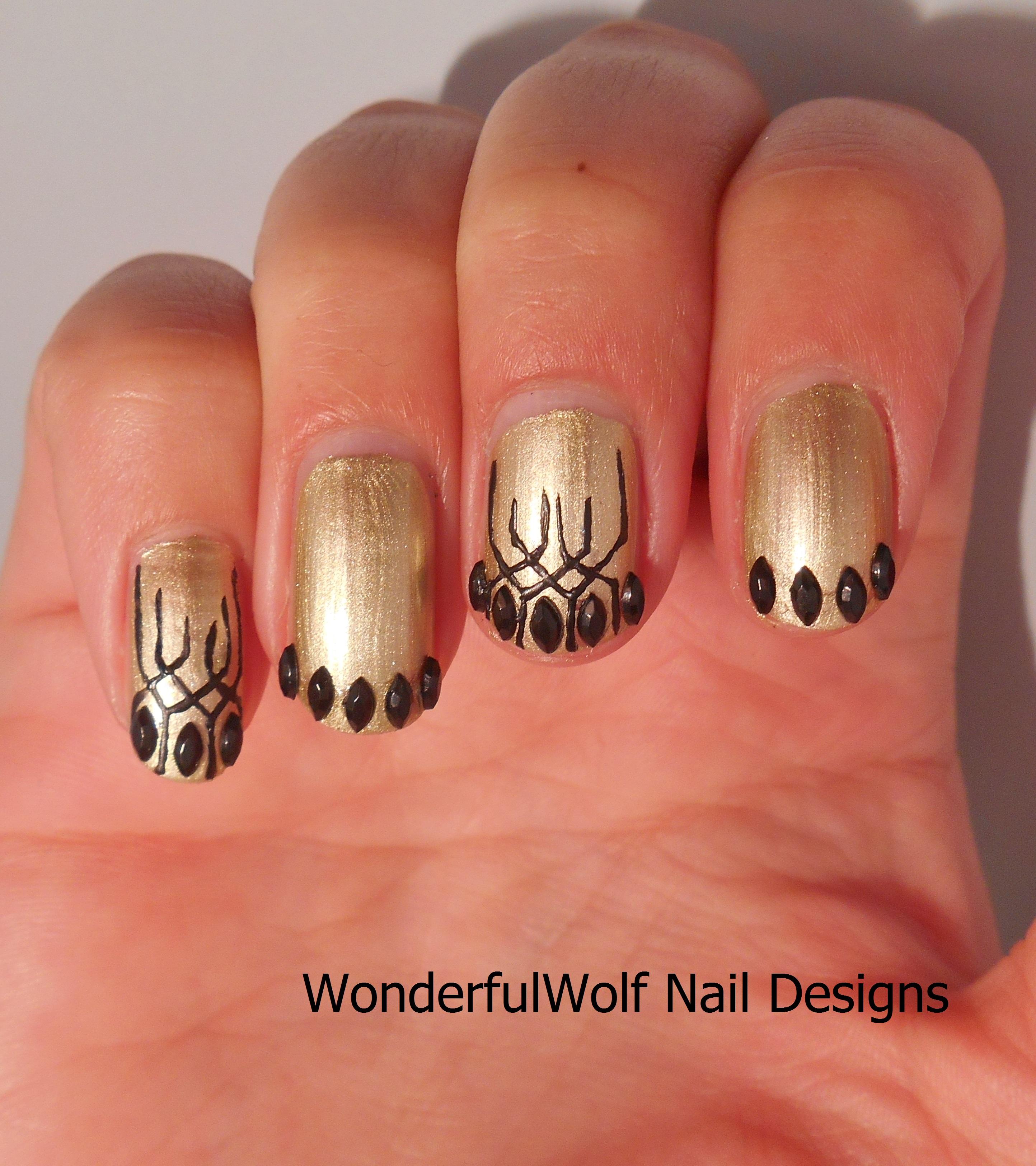 Funky French Manicure Nail Art Wonderfulwolf