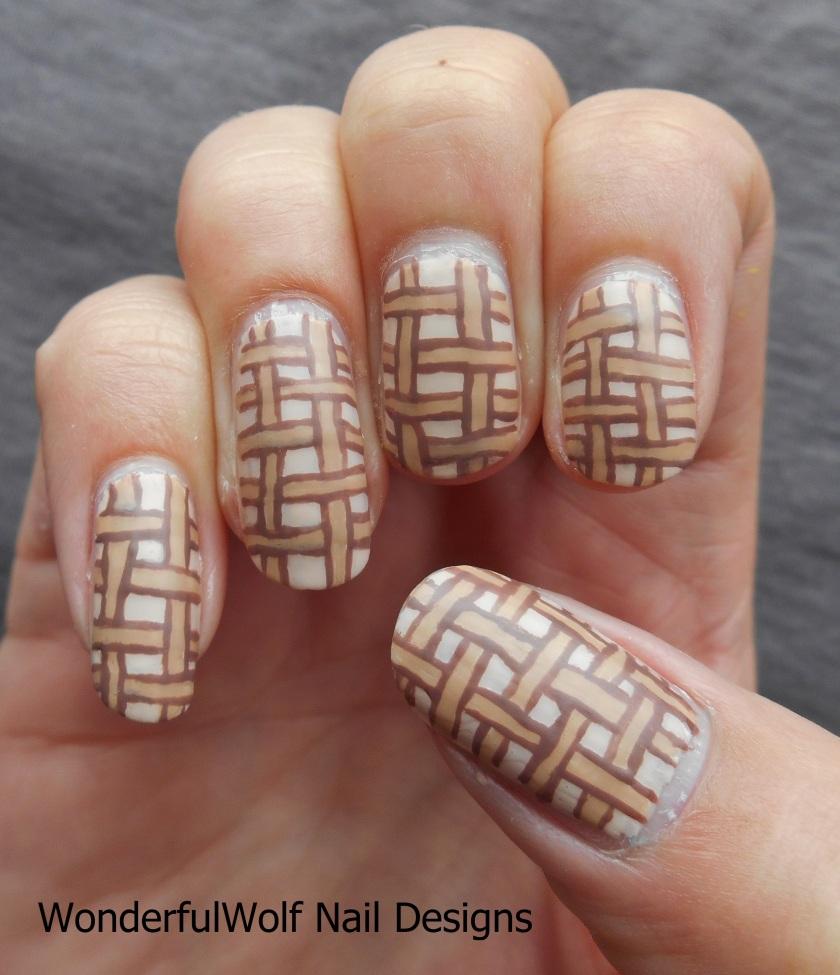 Basket Weave Nail Art