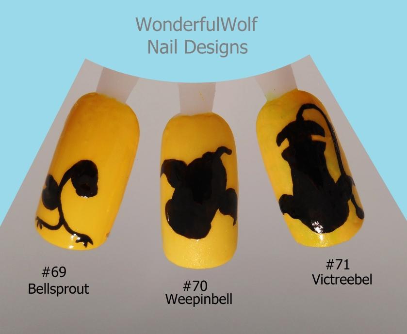 69, 70, 71Bellsprout Evolution Nail Art