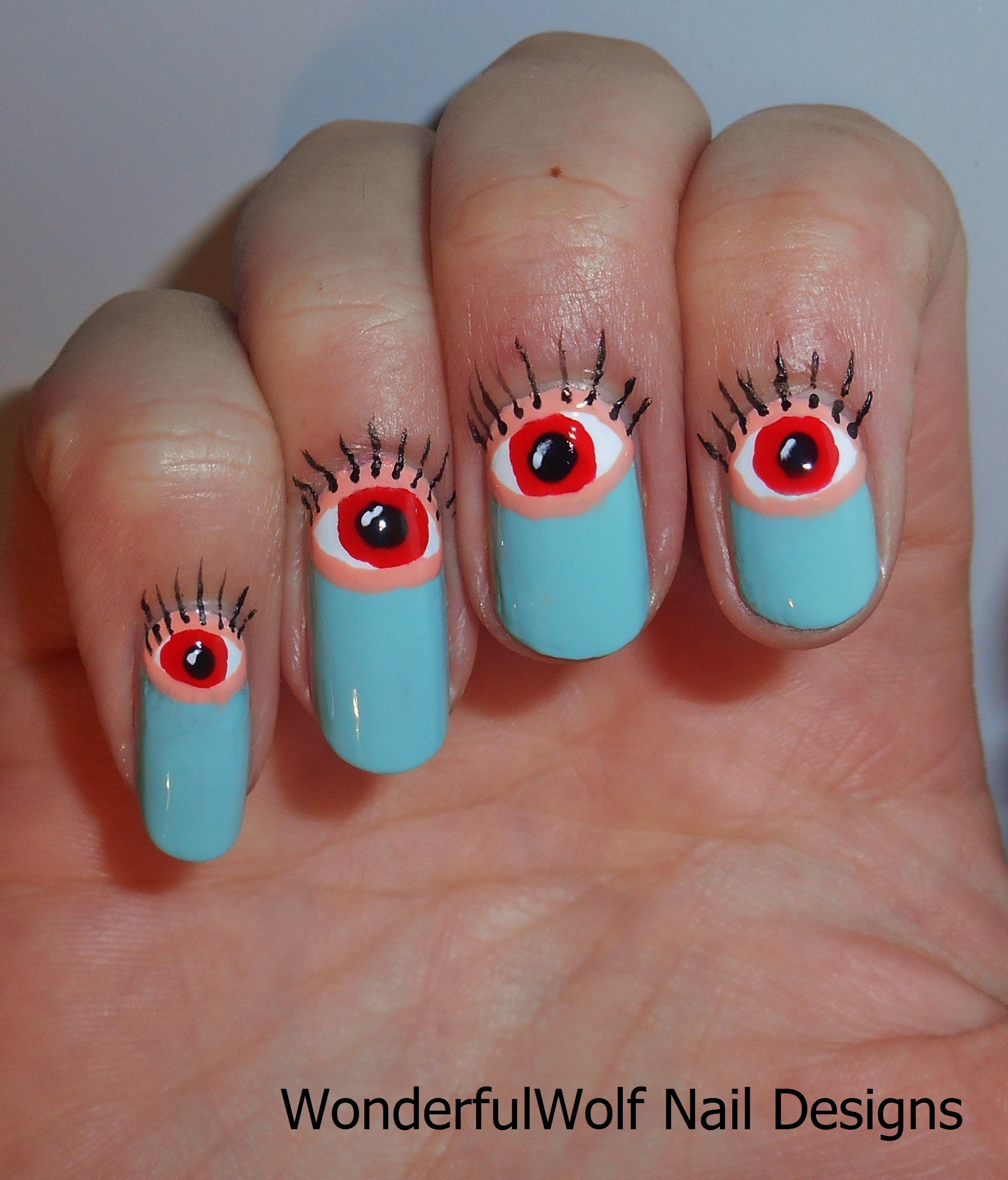 Eyeball Nail Art – WonderfulWolf