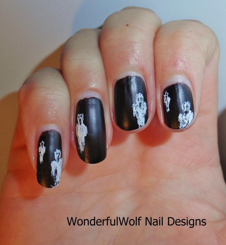 Ghostly Figures Nail Art