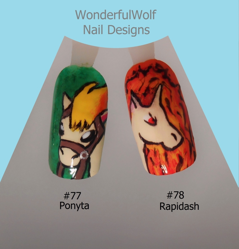 Ponyta and Rapidash Nail Art
